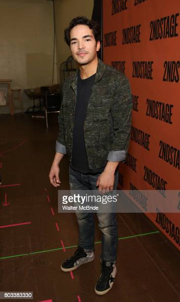 Juan Castano attends the cast photo call for the Second Stage production of 'A Parallelogram' at the Second Stage rehearsal studios on June 29 2017...