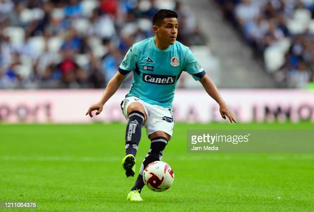 Juan Castro of San Luis controls the ball during the 9th round match between Monterrey and Atletico San Luis as part of the Torneo Clausura 2020 Liga...