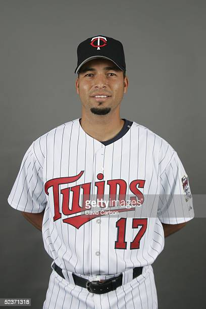 Juan Castro of the Minnesota Twins poses for a portrait during photo day at Hammond Stadium on February 28 2005 in Ft Myers Florida