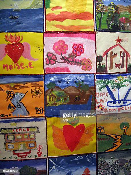 Juan Castro Olivera EEUUHaitísismoarteniños Paintings by a Haitian children are on display at the Museum of Contemporary Art in Miami on September 24...