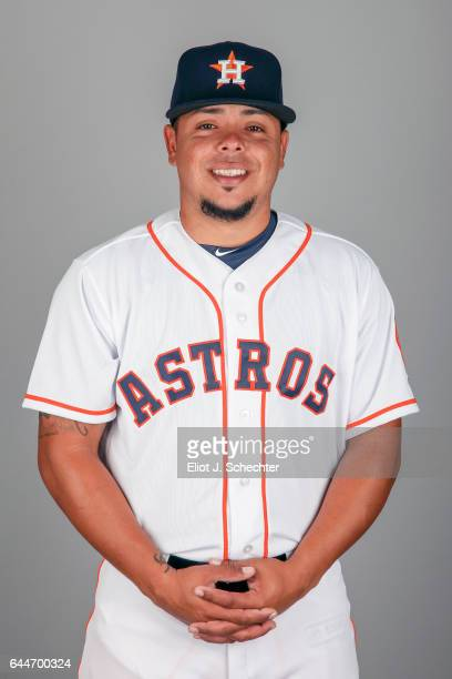 Juan Centeno of the Houston Astros poses during Photo Day on Sunday February 19 2017 at the Ballpark of the Palm Beaches in West Palm Beach Florida