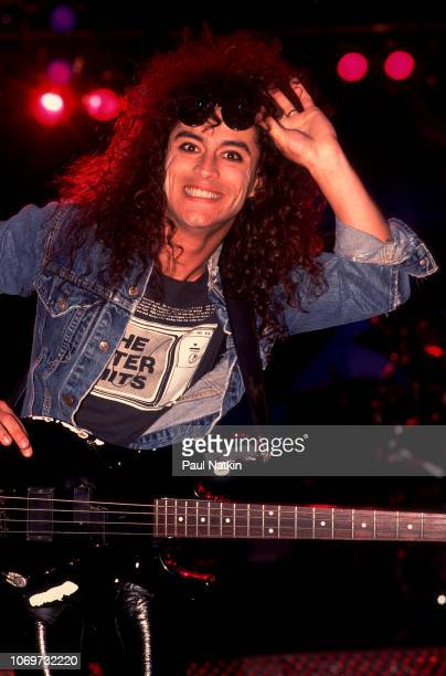 Juan Croucier of RATT performs on stage at the Rosemont Horizon in Rosemont Illinois September 21 1985