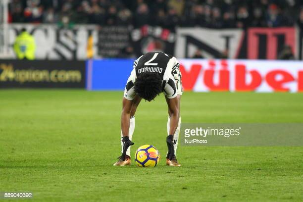 Juan Cuadrado during the Serie A football match between Juventus FC and FC Internazionale at Allianz Stadium on 09 December 2017 in Turin Italy The...