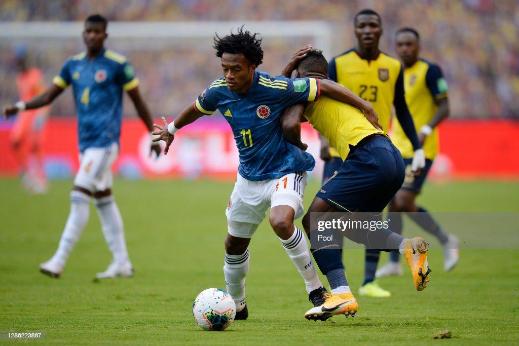 Ecuador v Colombia - South American Qualifiers for Qatar 2022 : News Photo