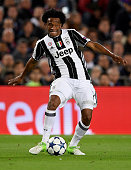 barcelona spain juan cuadrado juventus during