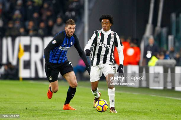 Juan Cuadrado of Juventus FC in action during the Serie A football match between Juventus FC and Fc Internazionale The match ended in a 00 tie