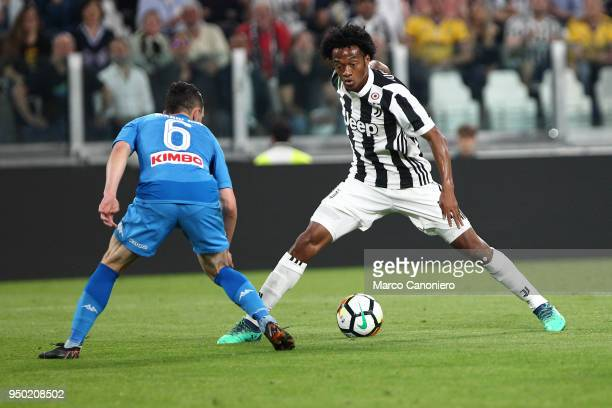 Juan Cuadrado of Juventus FC in action during the Serie A football match between Juventus FC and Ssc Napoli Ssc Napoli wins 10 over Juventus Fc