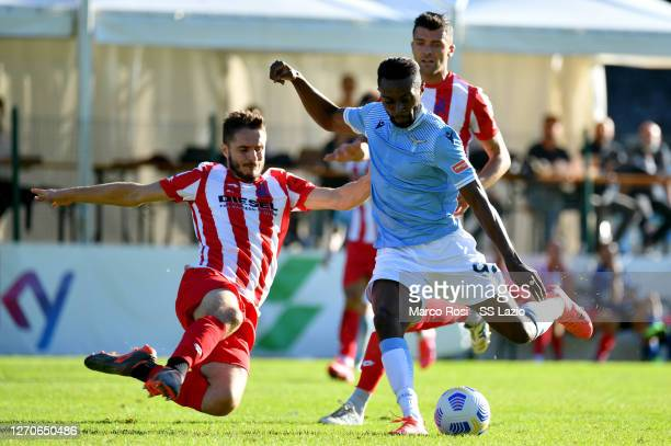 Juan Daniel Akpa Akpro of SS Lazio in action during the friendly match SS Lazio v Vicenza on September 04, 2020 in Auronzo di Cadore, Italy.