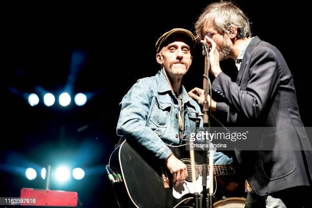 Juan de Dios and Xoel López perfoms on stage on July 21, 2019 in Santiago de Compostela, Spain.