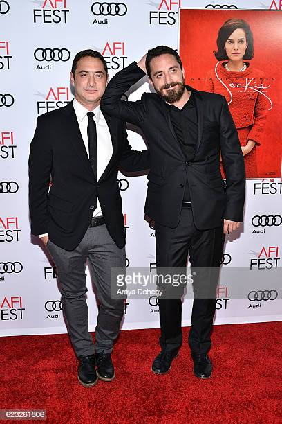 Juan de Dios Larrain and Pablo Larrain attend the AFI FEST 2016 Presented By Audi Centerpiece Gala Screening Of Fox Searchlight Pictures's 'Jackie'...