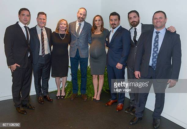 Juan de Dios Larrain Mickey Liddell Nancy Utley Noah Oppenheim Natalie Portman Max Casella Pablo Larrain and Scott Franklin attend the 'Jackie'...