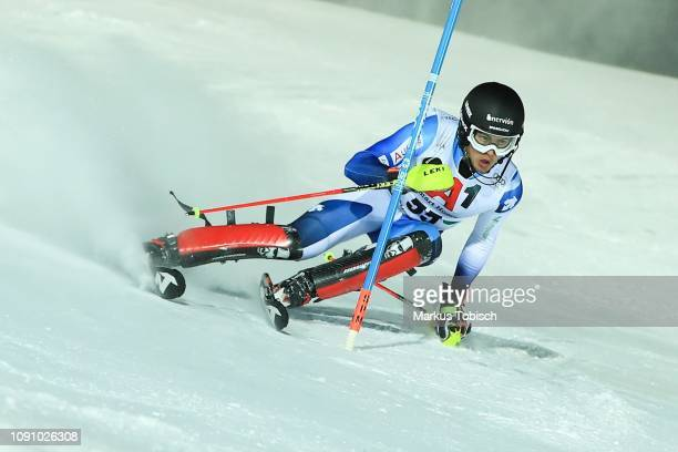 Juan Del Campo of Spain during the Audi FIS Alpine Ski World Cup Men´s Slalom at Planai Race Hill on January 29, 2019 in Schladming, Austria.