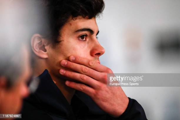 Juan del Campo Olympic skier at PyeongChang 2018 looks on during the Europa Press Sports breakfast act celebrated at Villa Magna Hotel dedicated to...