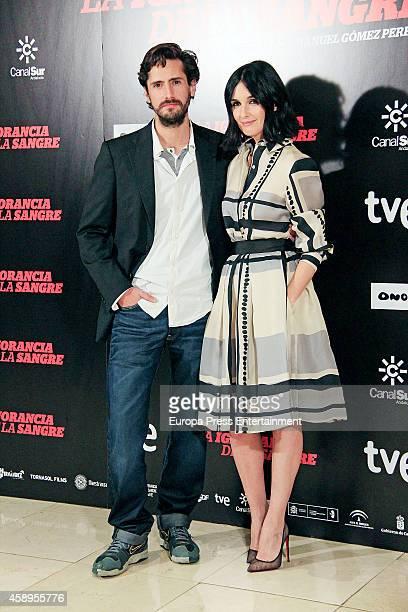 Juan Diego Botto and Paz Vega attend 'La Ignorancia de la Sangre' photocall on November 13 2014 in Madrid Spain