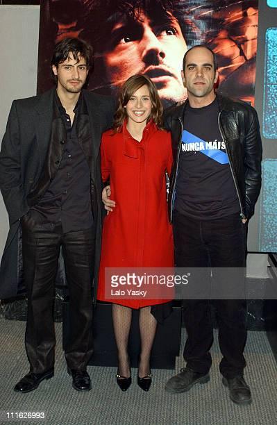 Juan Diego Botto Marta Etura and Luis Tosar during '13 Campanadas' Premiere Madrid at Callao Cinemas in Madrid Spain