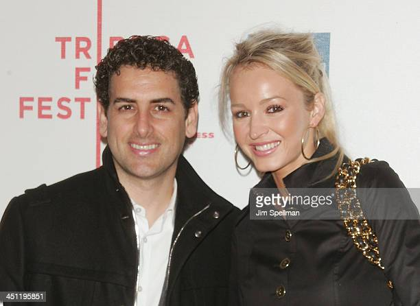 Juan Diego Florez and his wife Julia Trappe arrive at the 7th Annual Tribeca Film Festival Speed Racer premiere at BMCC/TPAC on May 3 2008 in New...