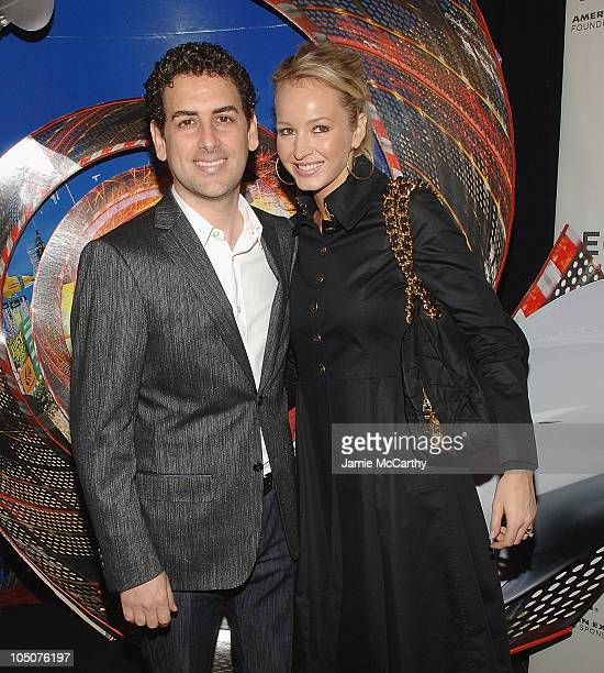 Juan Diego Florez and his wife Julia Trappe attend the 7th Annual Tribeca Film Festival Speed Racer Premiere at the Borough of Manhattan Community...