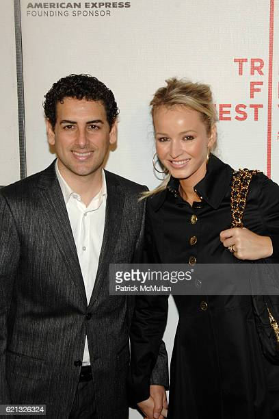 Juan Diego Florez and Julia Trappe attend Arrivals of Tribeca Film Festival screening of Speed Racer at 199 Chambers St on May 3 2008 in New York City