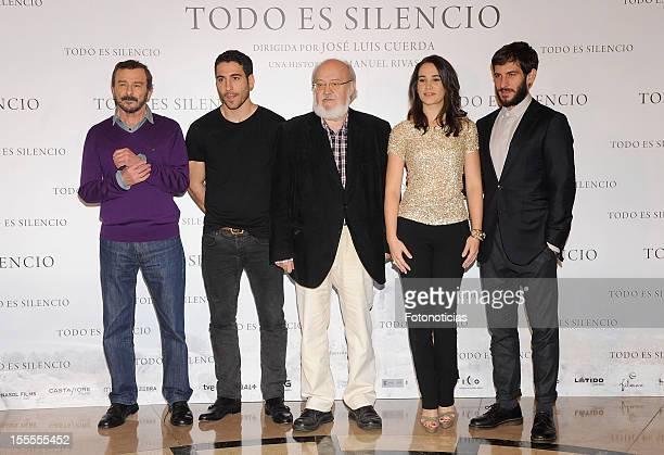 Juan Diego Miguel Angel Silvestre Jose Luis Cuerda Celia Freijeiro and Quim Gutierrez attend a photocall for 'Todo Es Silencio' at the Palafox cinema...