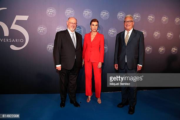 Juan Eslava Galan Carmen Posadas and Fernando G Delgado attend the '65th Premio Planeta' Literature Award the most valuable literature award in Spain...