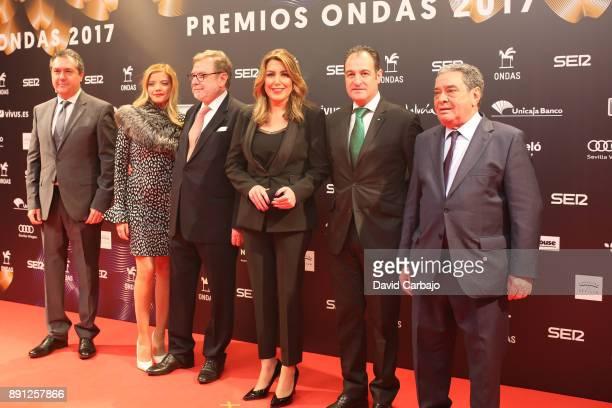 Juan Espadas Margarita Roble Fernando Gomez Susana Diaz Marcos Perto and Juan fabrique attend the 63th Ondas Gala Awards 2016 at the FIBES on...