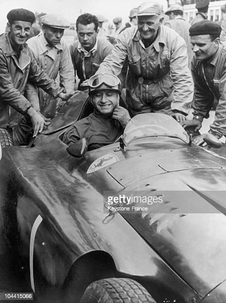 Juan FANGIO is the winner of the Germany's Grand Prix on the Nurburgring racetrack