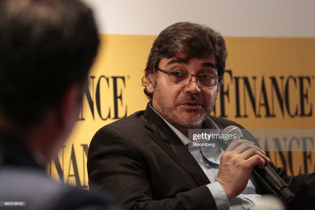 Juan Fernando Carbel, chief executive officer of Parque Eolico Arauco Sapem, speaks during the Argentina Sub-Sovereign and Infrastructure Finance Summit in Buenos Aires, Argentina, on Wednesday, Nov. 29, 2017. The event will join Argentina's provincial and municipal leaders together with regional and international investors, infrastructure developers, financiers and advisers to discuss sub-sovereign financial and investment strategies and explore what needs to be done to efficiently put capital to work in new infrastructure projects. Photographer: Sarah Pabst/Bloomberg via Getty Images