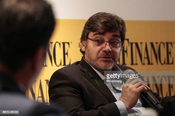 Juan Fernando Carbel chief executive officer of Parque Eolico Arauco Sapem speaks during the Argentina SubSovereign and Infrastructure Finance Summit...