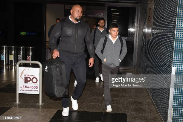 Juan Fernando Quintero of River Plate arrives to Brazil May 20 2019 in Curitiba Brazil River Plate will face Atletico Paranaense as part of Recopa...