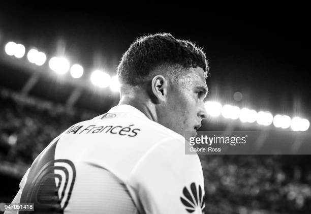 Juan Fernando Quintero of River Plate looks on during a match between River Plate and Rosario Central as part of Superliga 2017/18 at Estadio...