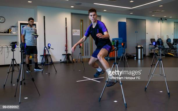 Juan Foyth of Tottenham Hotspur during pre season training at Tottenham Hotspur Training Centre on July 9 2018 in Enfield England
