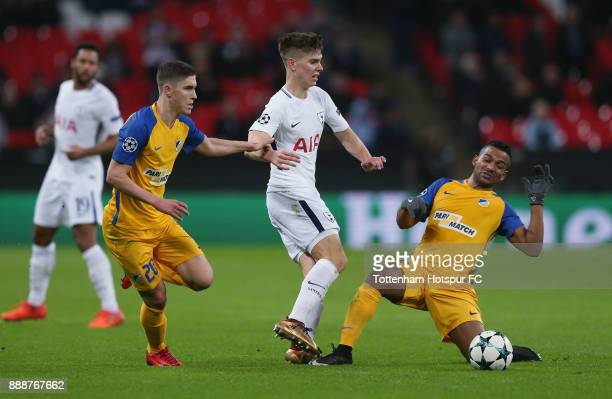 Juan Foyth of Tottenham Hotspur during the UEFA Champions League group H match between Tottenham Hotspur and APOEL Nikosia at Wembley Stadium on...