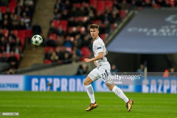 Juan Foyth of Tottenham Hotspur during the UEFA Champions League group H match between Tottenham Hotspur and APOEL Nicosia at Wembley Stadium on...