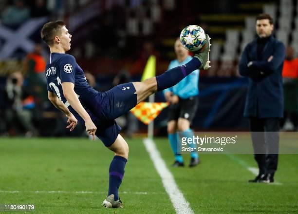 Juan Foyth of Tottenham Hotspur in action during the UEFA Champions League group B match between Crvena Zvezda and Tottenham Hotspur at Rajko Mitic...