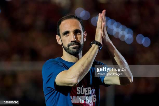 Juan Francisco Torres Belen, Juanfran, of Atletico de Madrid celebrates the team winning the 2018 UEFA Super Cup after the La Liga 2018-19 match...
