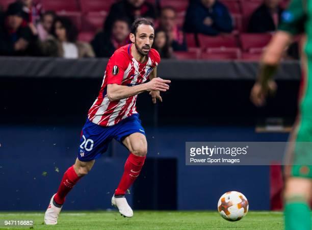 Juan Francisco Torres Belen, Juanfran, of Atletico de Madrid in action during the UEFA Europa League 2017-18 Round of 16 match between Atletico de...