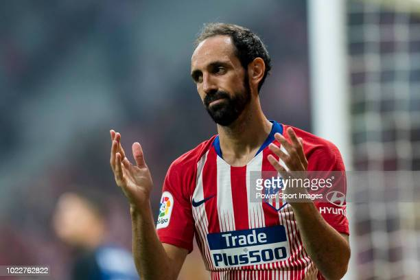 Juan Francisco Torres Belen, Juanfran, of Atletico de Madrid reacts during their International Champions Cup Europe 2018 match between Atletico de...
