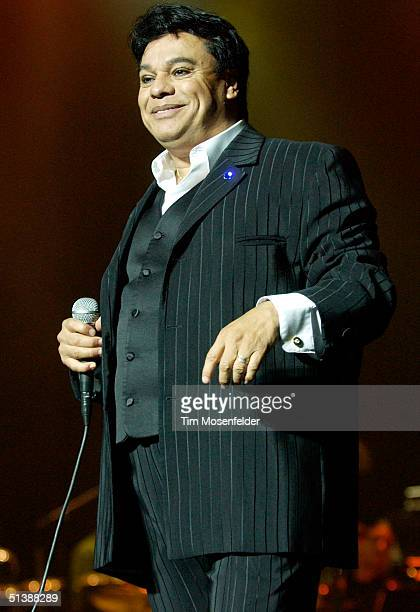 Juan Gabriel performs in support of his Grandes Exiros release at HP Pavilion on October 3 2004 in San Jose California