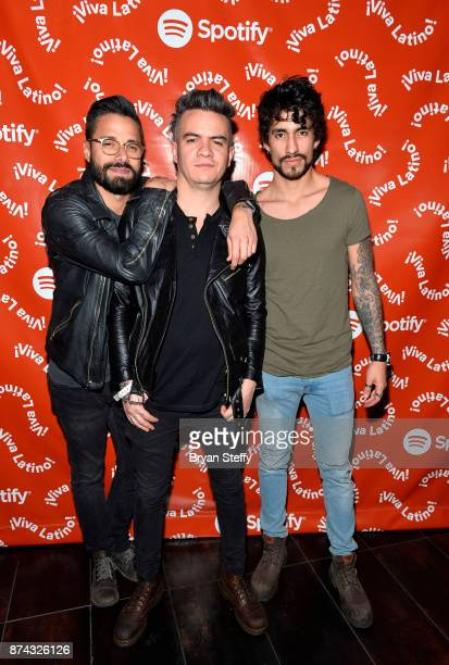 Juan Galeano Daniel Alvarez and Andee Zeta of Diamante Electrico at Spotify Celebrates Latin Music and Their Viva Latino Playlist at Marquee...