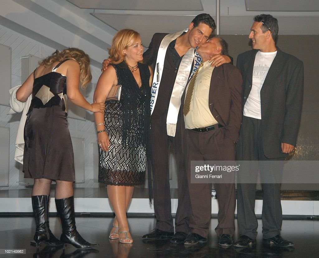 Juan Garcia is congratulated by his family after his election as Mister Spain 2006, First April 2006, Marina d'Or, Castellon, Spain.
