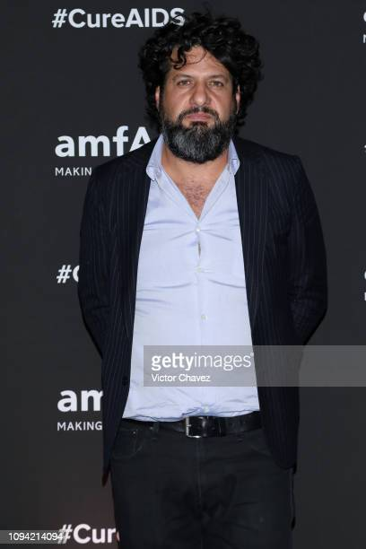 Juan Gaytan poses during the amfAR gala dinner at the house of collector and museum patron Eugenio López on February 5 2019 in Mexico City Mexico