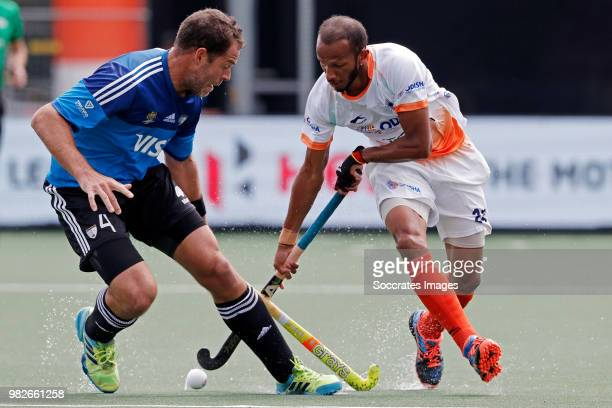 Birendra Lakra of India during the Champions Trophy match between India v Argentinia at the Hockeyclub Breda on June 24 2018 in Breda Netherlands