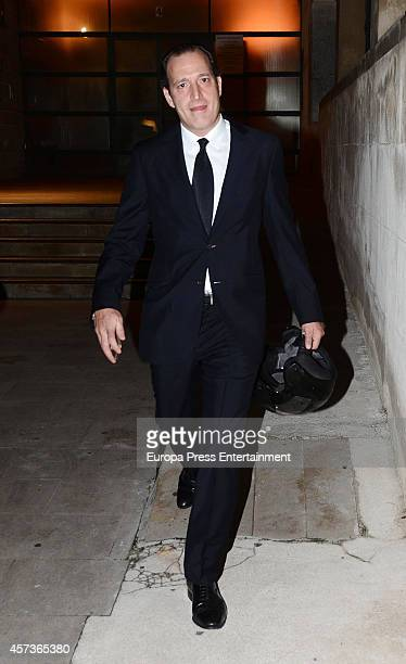 Juan Gomez Acebo attends the funeral service for Graciliano Barrerios at San Jeronimo el Real church on October 16 2014 in Madrid Spain