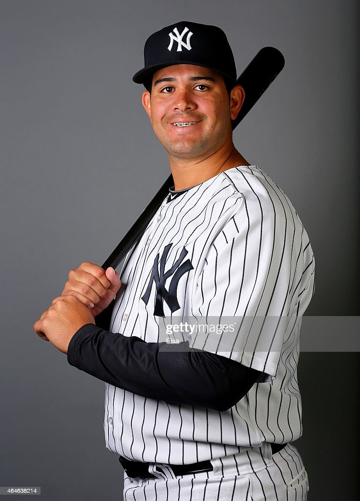 Juan Graterol #85 of the New York Yankees poses for a portrait on February 27, 2015 at George M. Steinbrenner Stadium in Tampa,Florida.