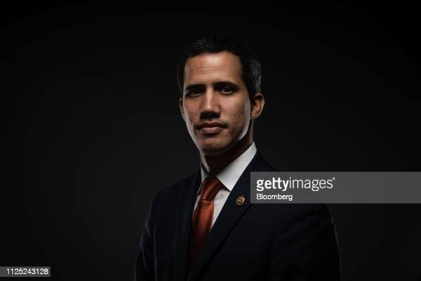 Juan Guaido president of the National Assembly who swore himself in as the leader of Venezuela stands for a photograph in Caracas Venezuela on Friday...
