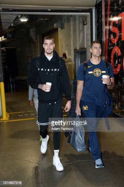 Juan Hernangomez of the Denver Nuggets arrives prior to a game against the LA Clippers on December 22 2018 at STAPLES Center in Los Angeles...