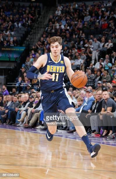 Juan Hernangomez of the Denver Nuggets drives against the Sacramento Kings on November 20 2017 at Golden 1 Center in Sacramento California NOTE TO...