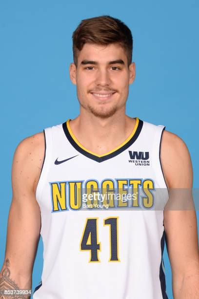 Juan Hernangomez of the Denver Nuggets poses for a head shot during Media Day on September 25 2017 at the Pepsi Center in Denver Colorado NOTE TO...