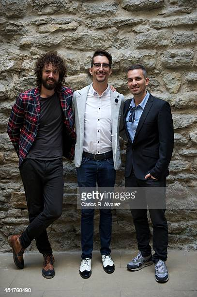 Juan Ibanez Jorge Marron and Damian Molla attend the Peliculeros photocall at the Villa Suso Palace during day 6 of the 6th FesTVal Television...