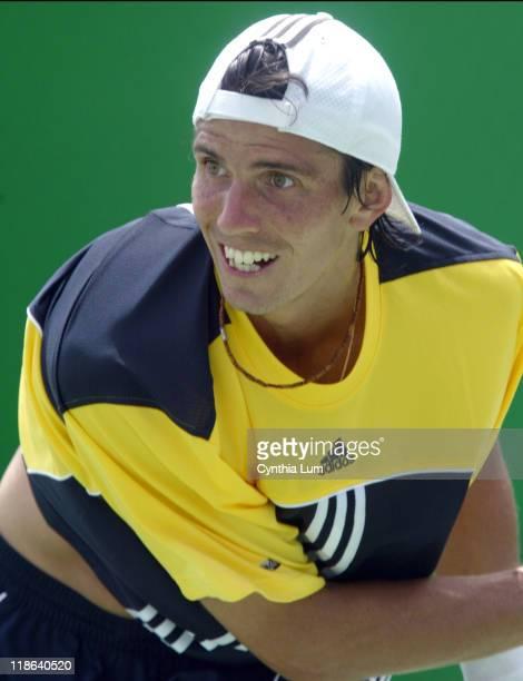 Juan Ignacio Chela of Argentina during his 2005 Australian Open second round match vs Gregory Carraz of France at Melbourne Park Chela won 76 62 76